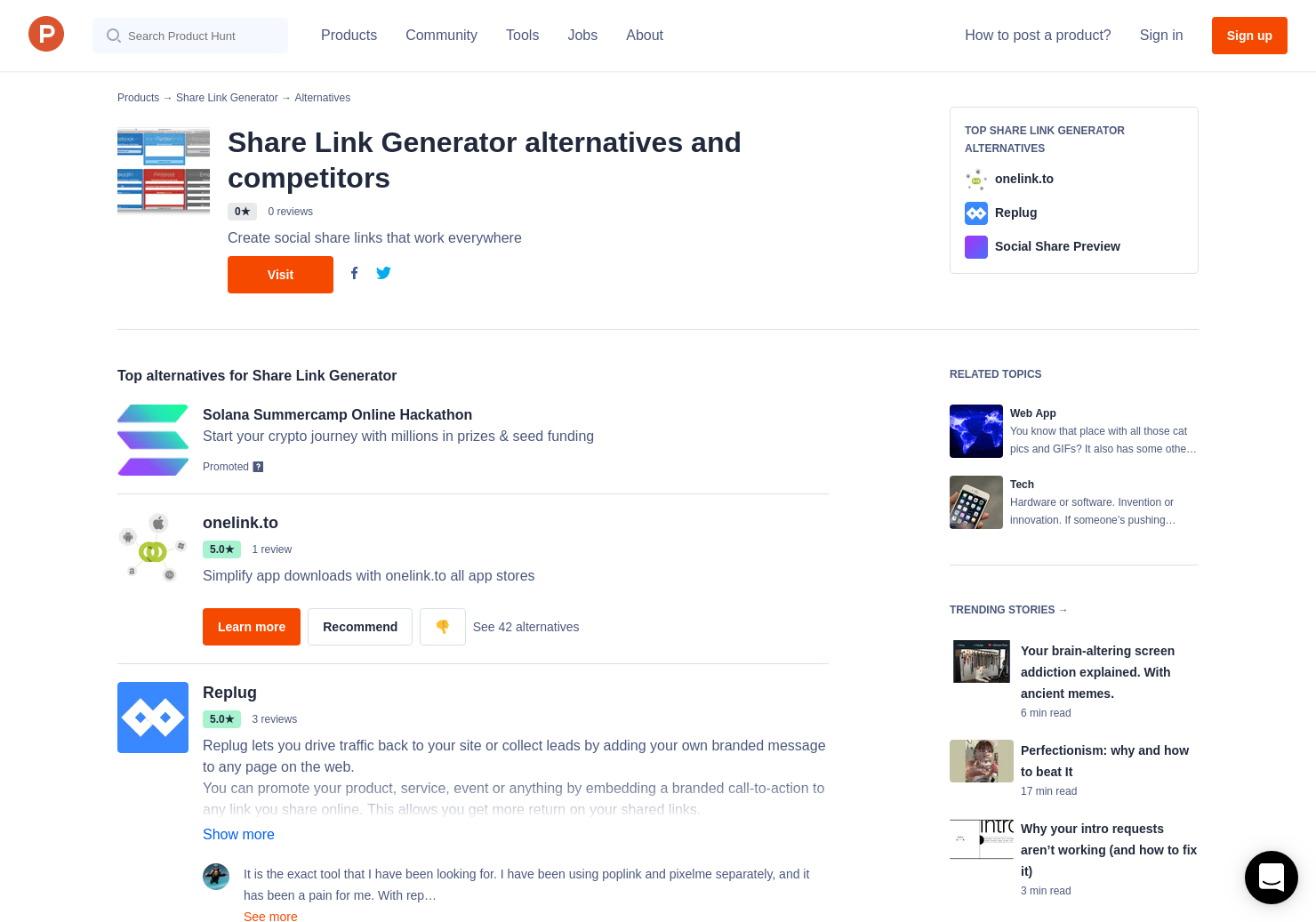 6 Alternatives to Share Link Generator   Product Hunt