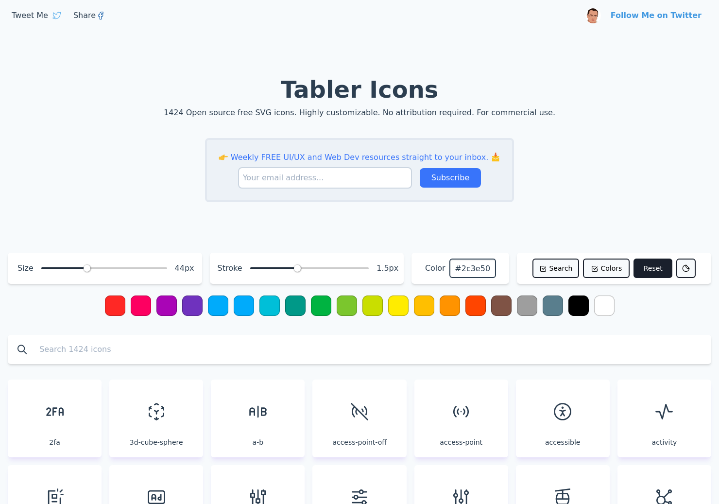 Tabler Icons 1.0