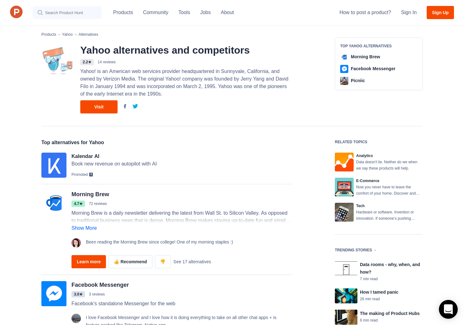 3 alternatives to yahoo view | product hunt