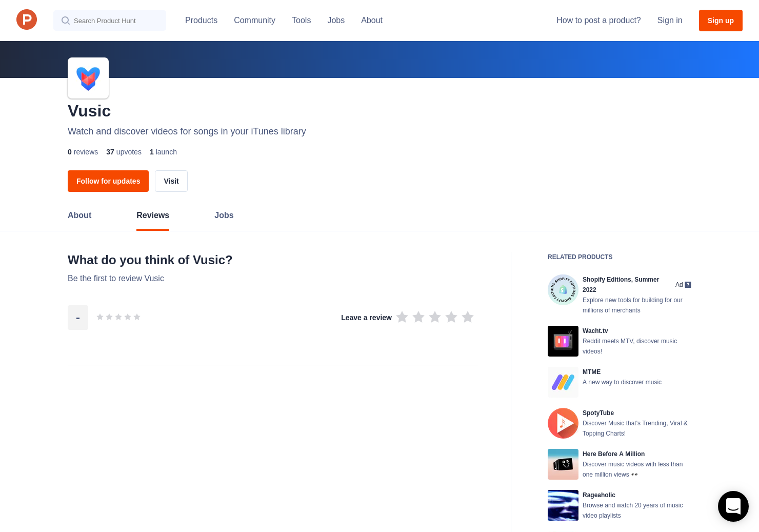Vusic Reviews - Pros, Cons and Rating | Product Hunt
