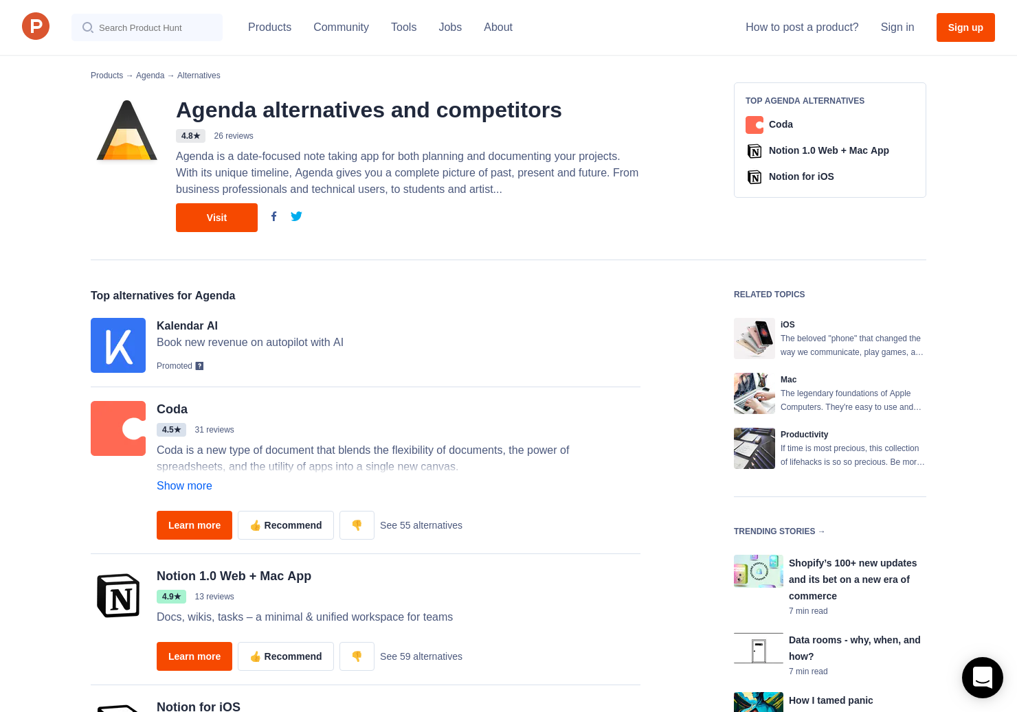 Agenda App Sync 33 alternatives to agenda for iphone, mac | product hunt