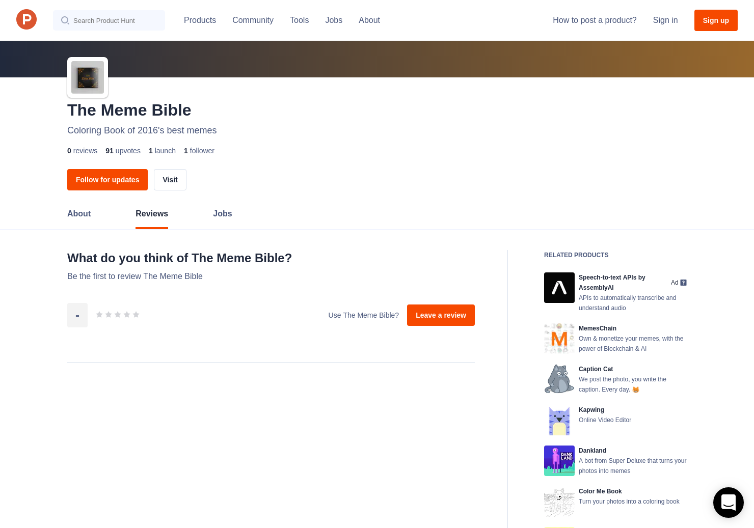 The Meme Bible Reviews Pros Cons And Rating Product Hunt