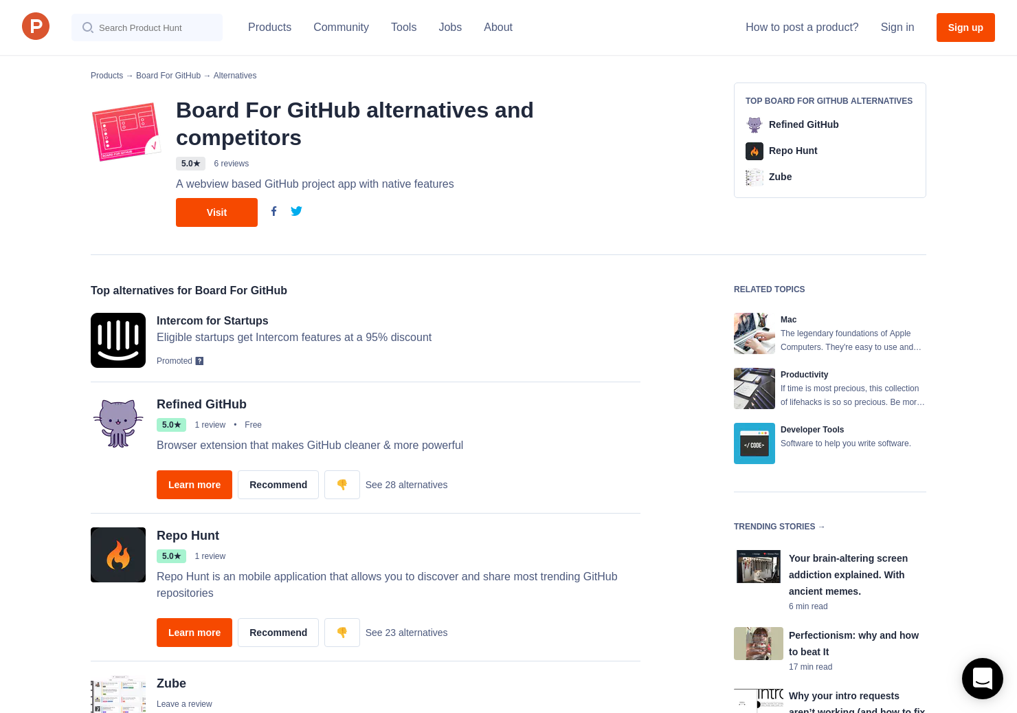 16 Alternatives to Board For GitHub for Mac | Product Hunt