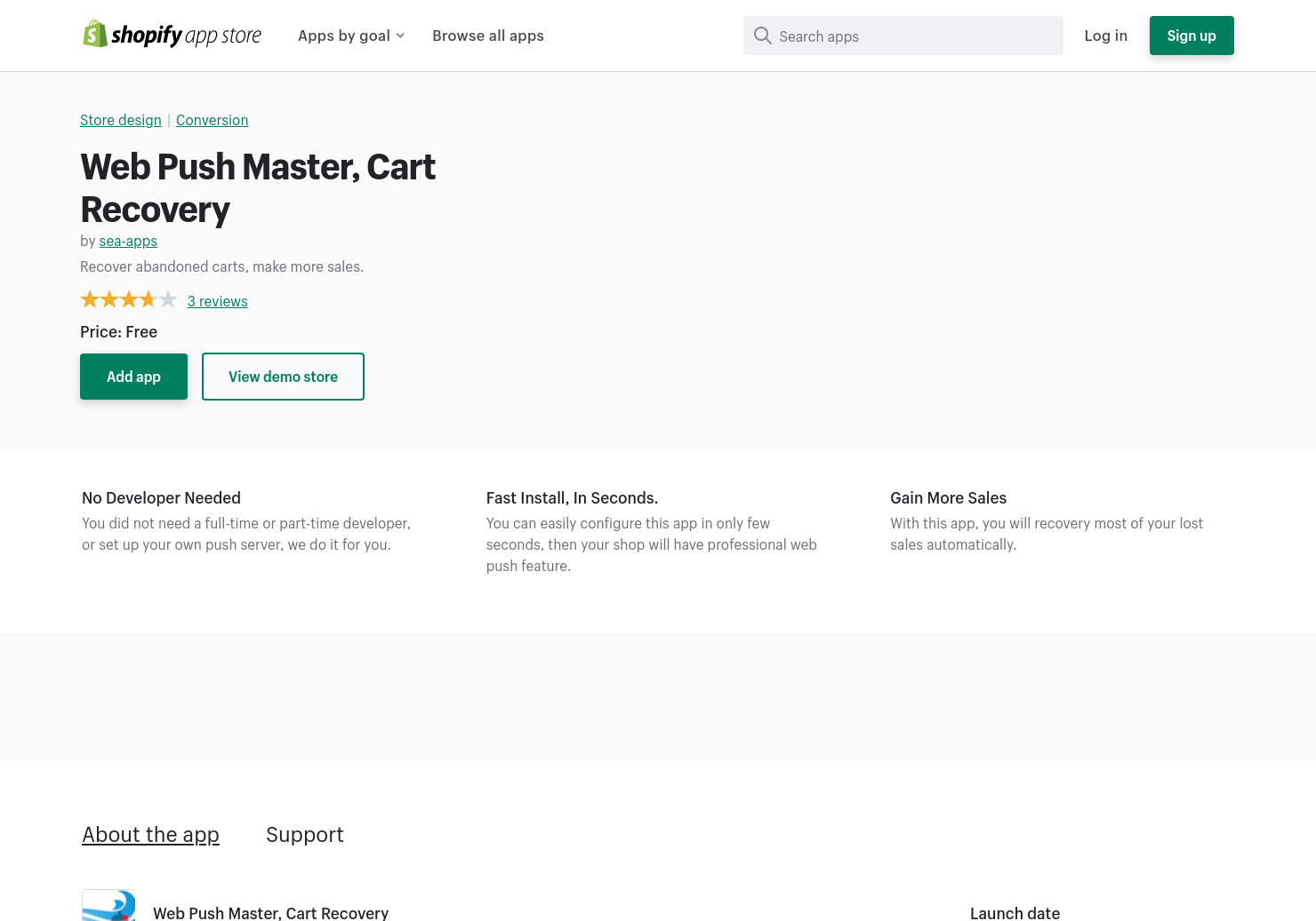 Web Push Master, Cart Recovery