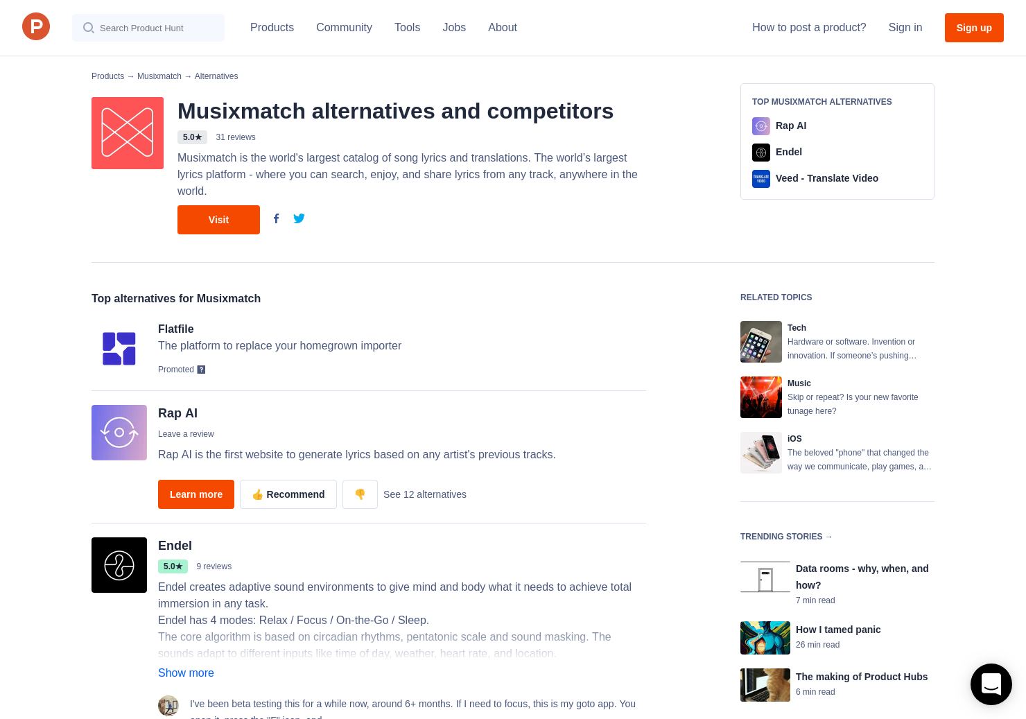 10 Alternatives to Musixmatch + Apple Music for iPhone