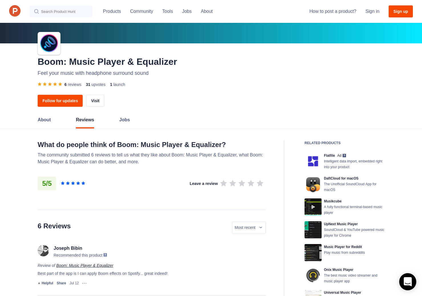 6 Boom: Music Player & Equalizer Reviews - Pros, Cons and