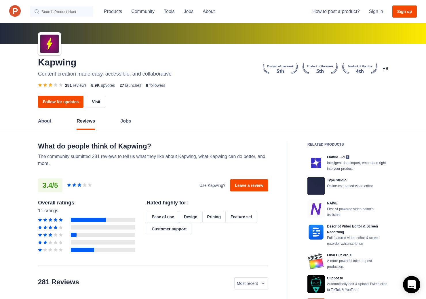 Kapwing Stop Motion Video Maker Reviews - Pros, Cons and Rating