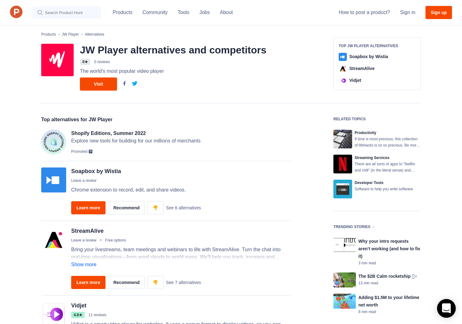 11 Alternatives to JW Player 2 0 | Product Hunt
