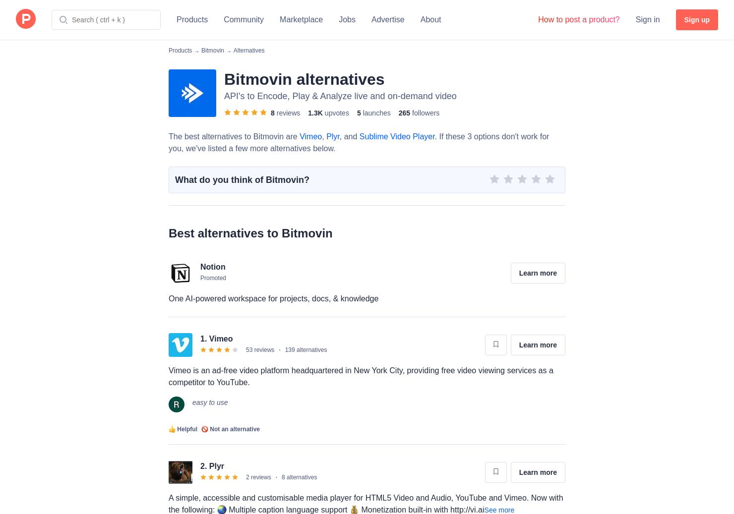 2 Alternatives to Bitmovin HTML5 Player v7   Product Hunt