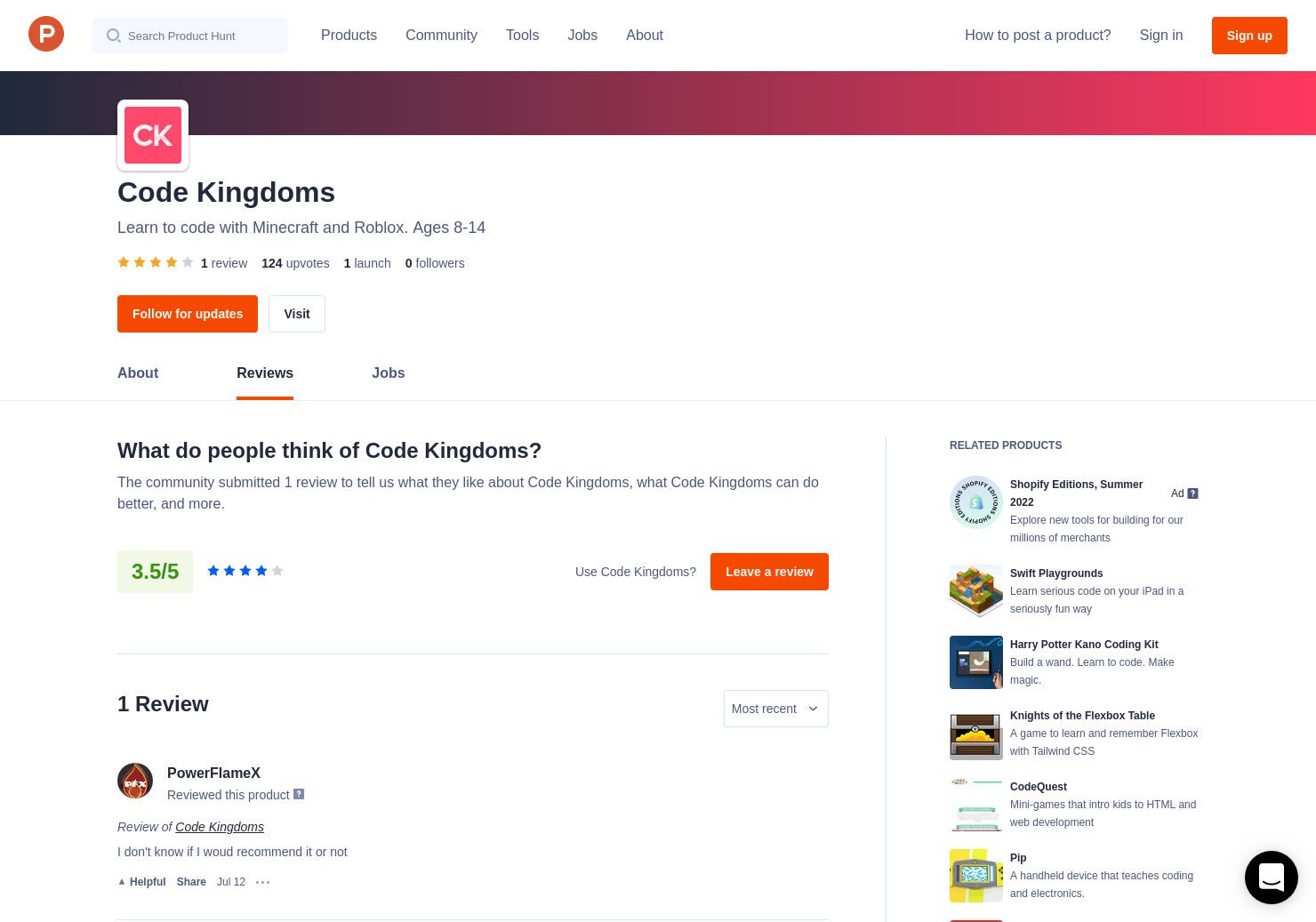 1 Code Kingdoms Reviews - Pros, Cons and Rating | Product Hunt