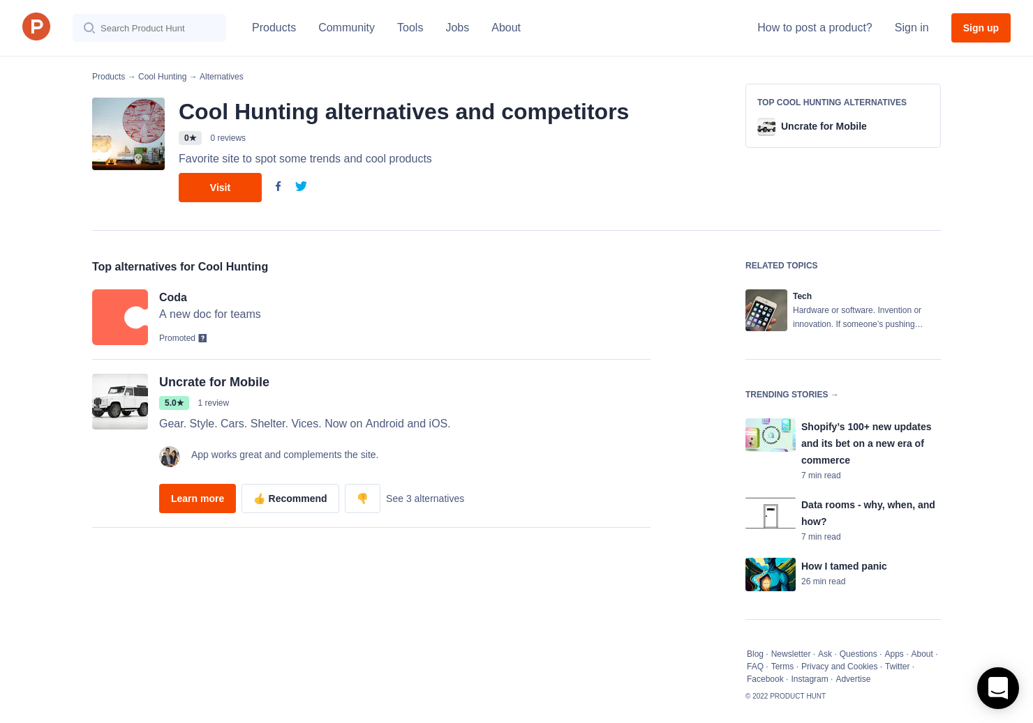 1 Alternatives to COOL HUNTING Omakase | Product Hunt