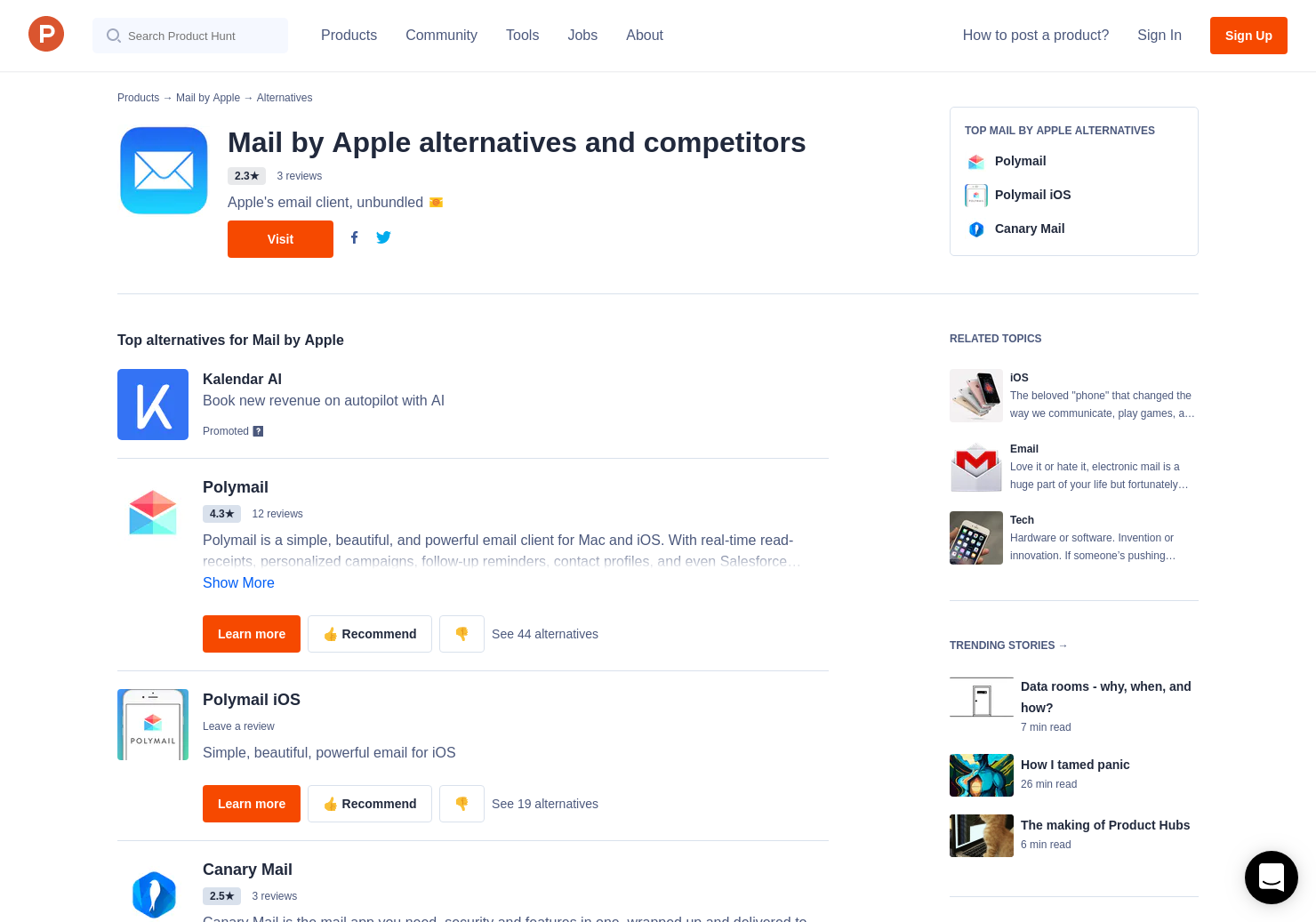 9 Alternatives to Mail by Apple for iPhone | Product Hunt
