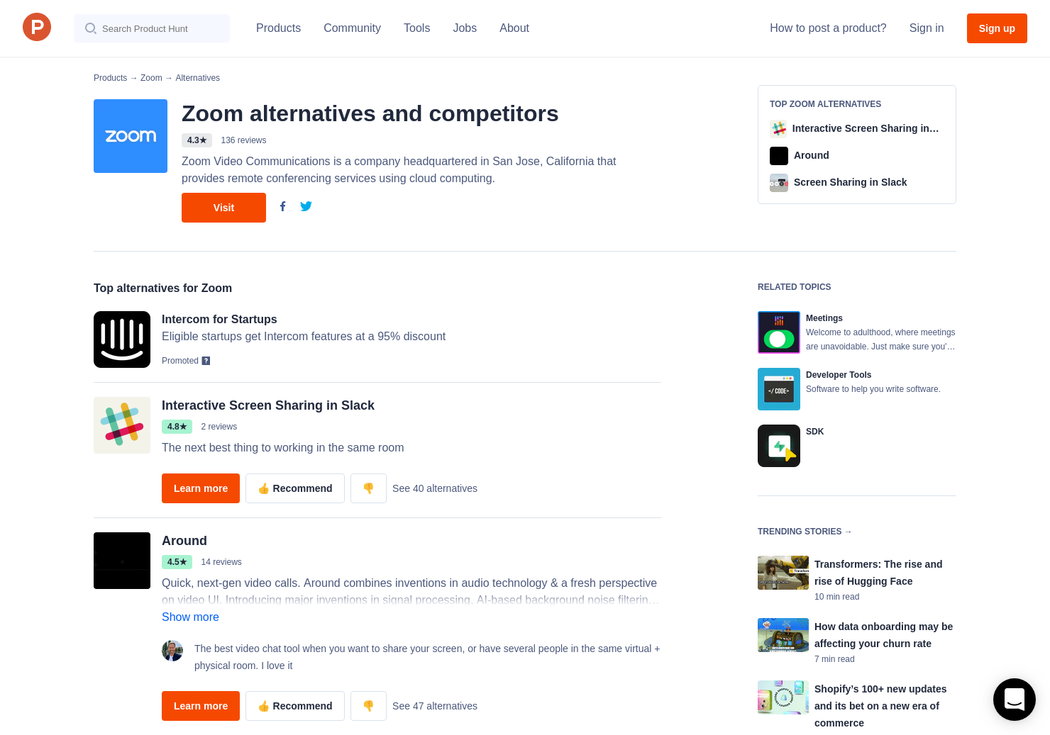 43 Alternatives to Zoom | Product Hunt