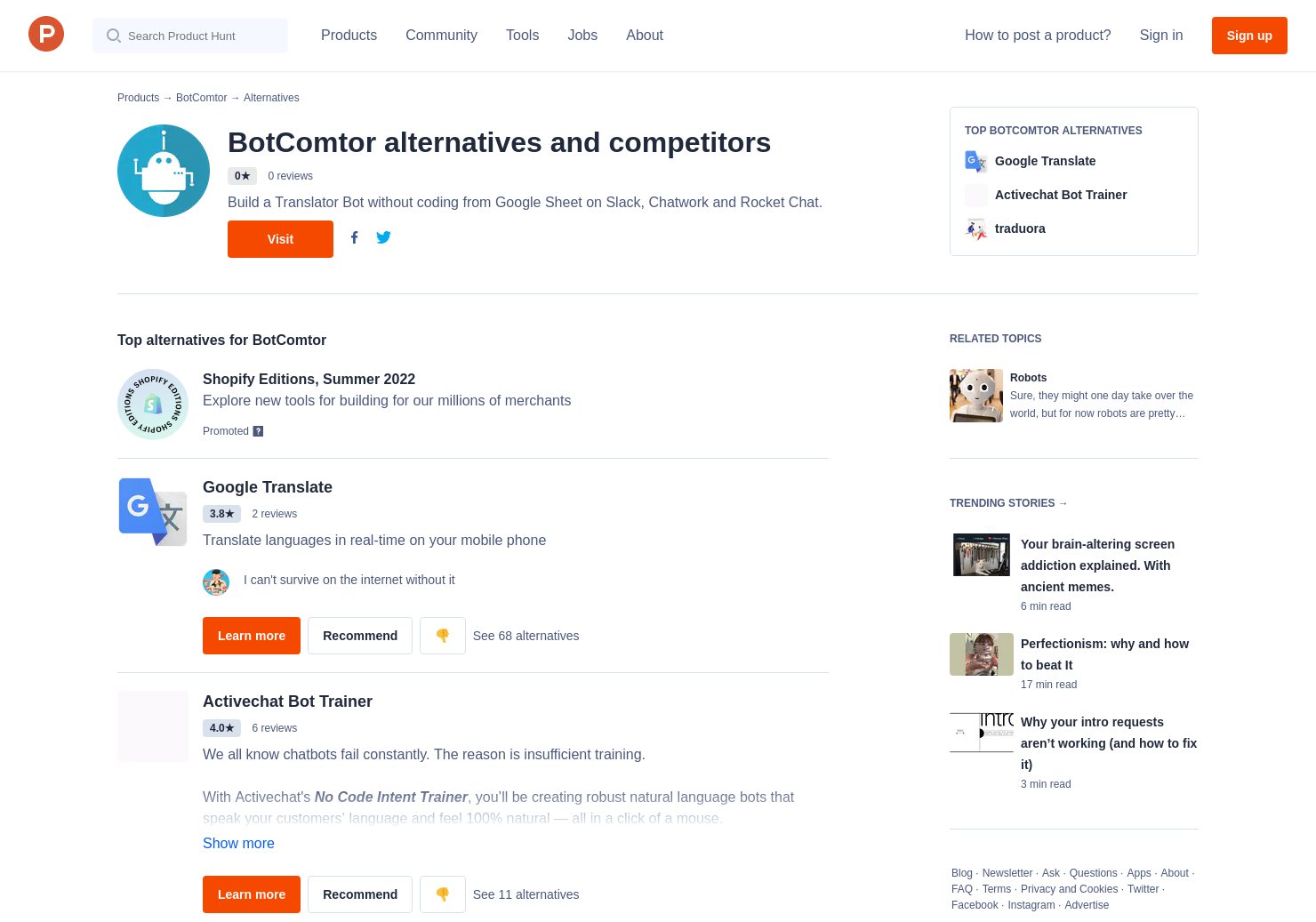 9 Alternatives to BotComtor | Product Hunt