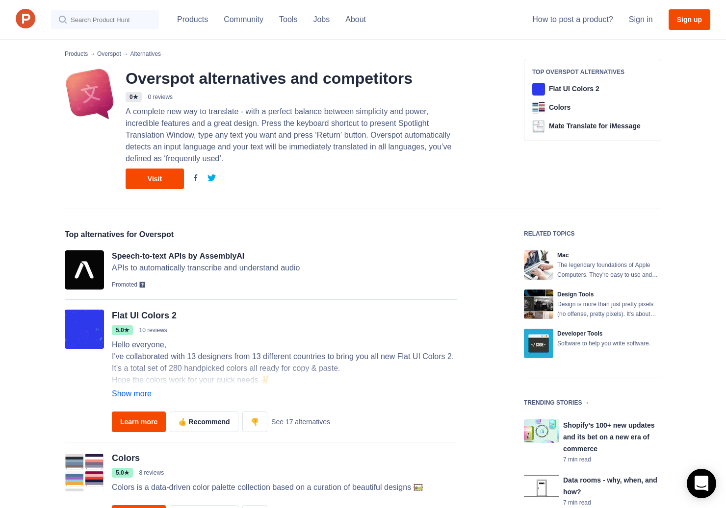 5 Alternatives to Overspot for Mac   Product Hunt