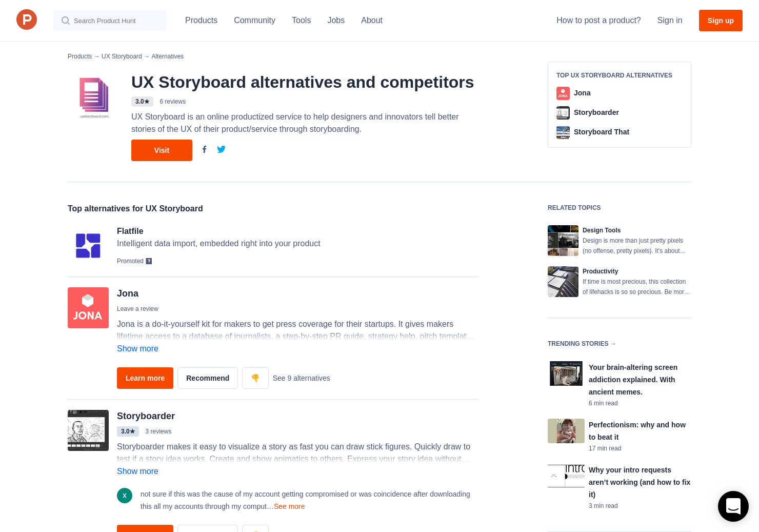 5 Alternatives To Ux Storyboard Product Hunt