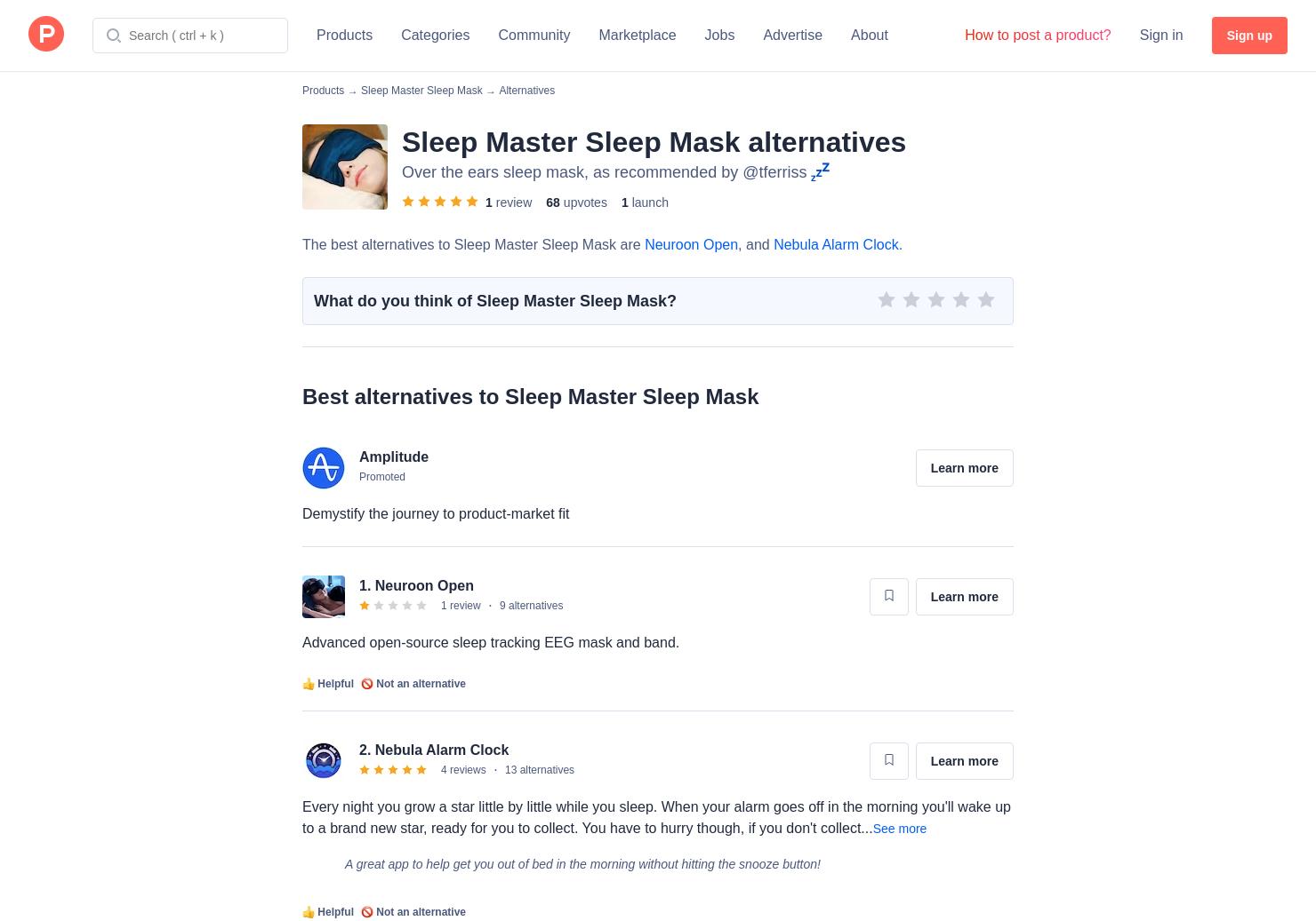 4 Alternatives to Sleep Master Sleep Mask | Product Hunt