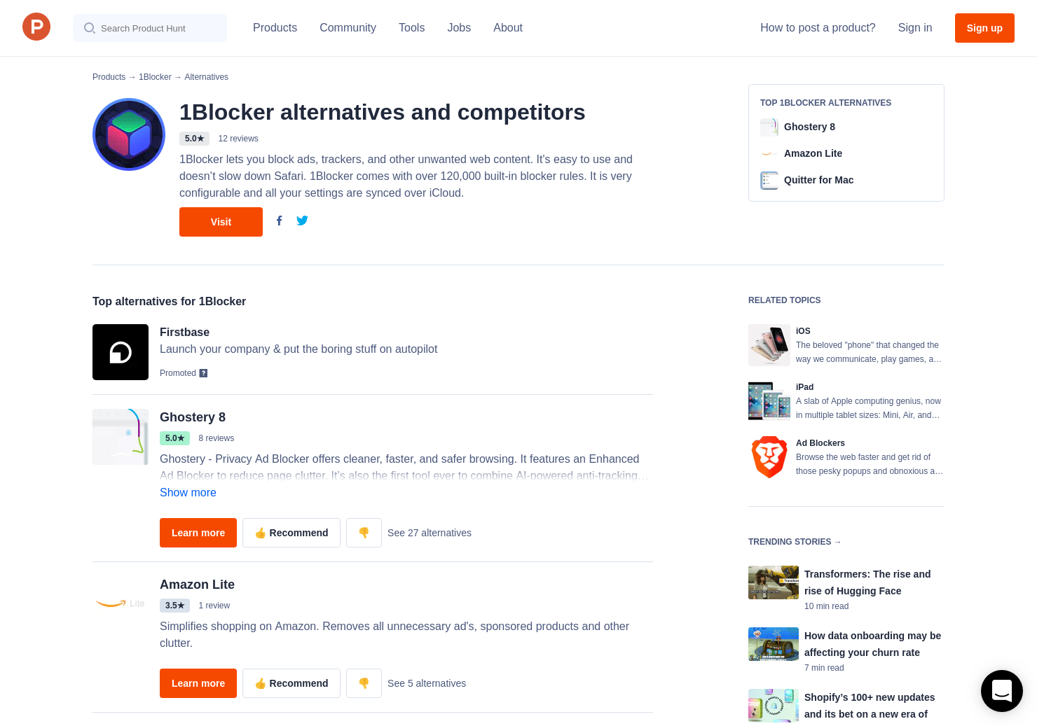 22 Alternatives to 1Blocker for iPhone, iPad   Product Hunt