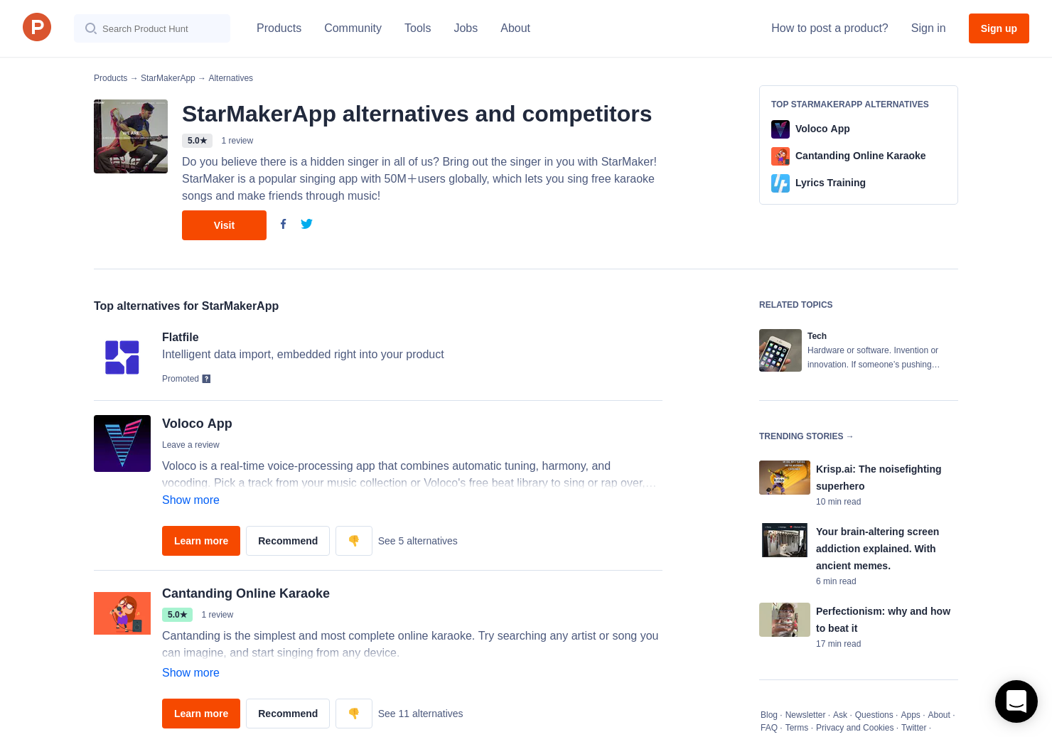 6 Alternatives to StarMaker | Product Hunt