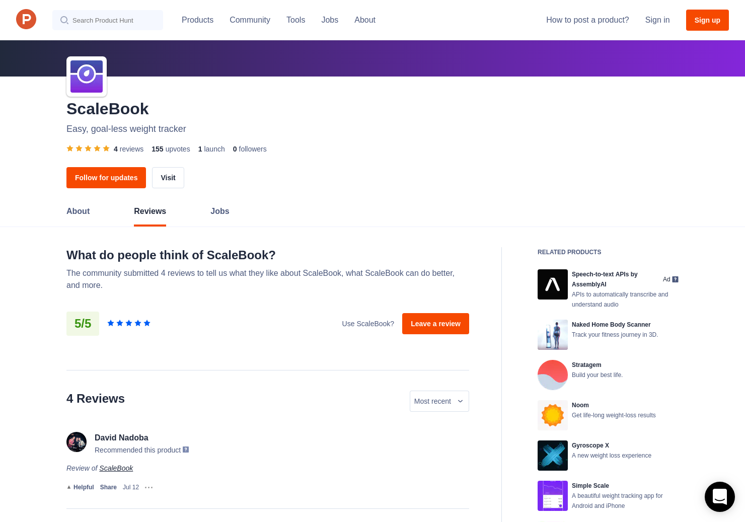 4 ScaleBook Reviews - Pros, Cons and Rating | Product Hunt