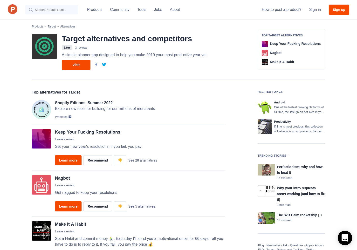 5 Alternatives to Target for Android | Product Hunt
