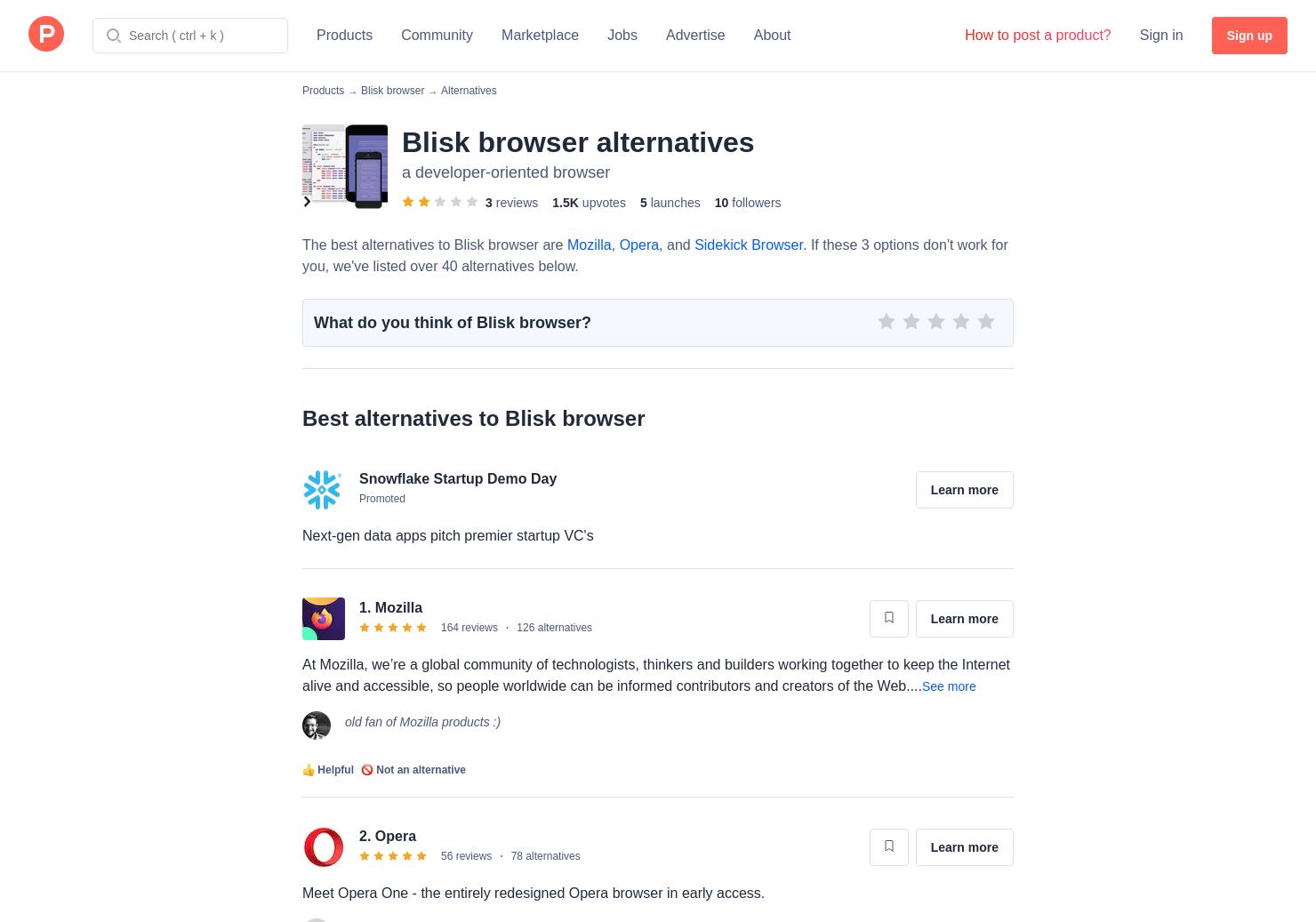 23 Alternatives to Blisk Browser for Windows, Mac | Product Hunt