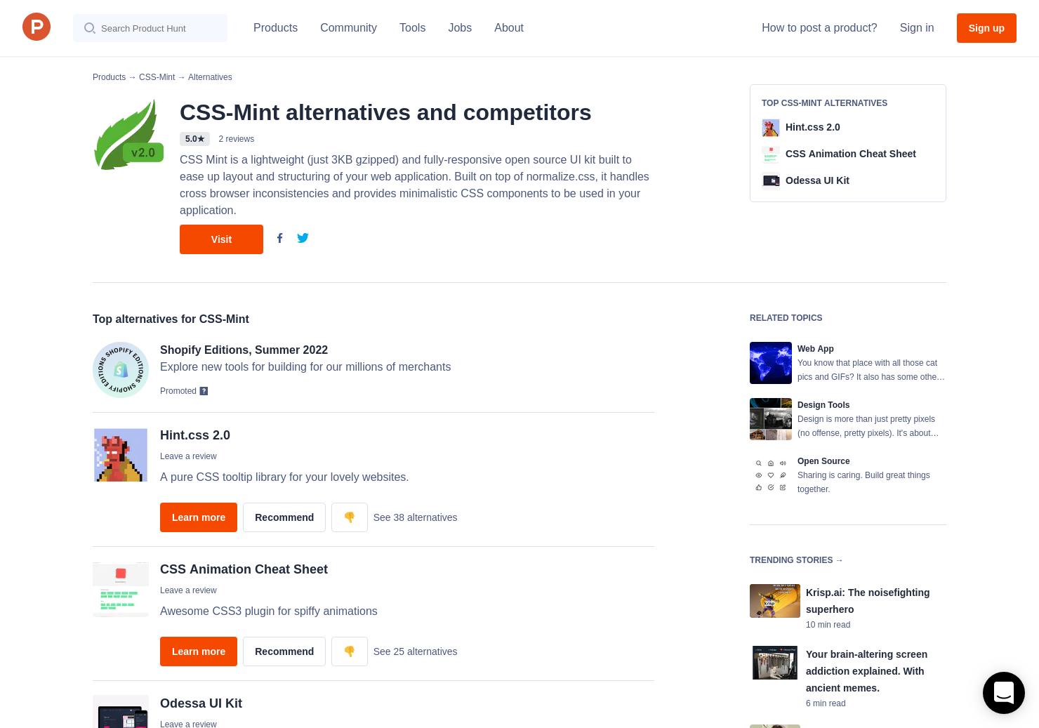 4 Alternatives to CSS-Mint - Product Hunt