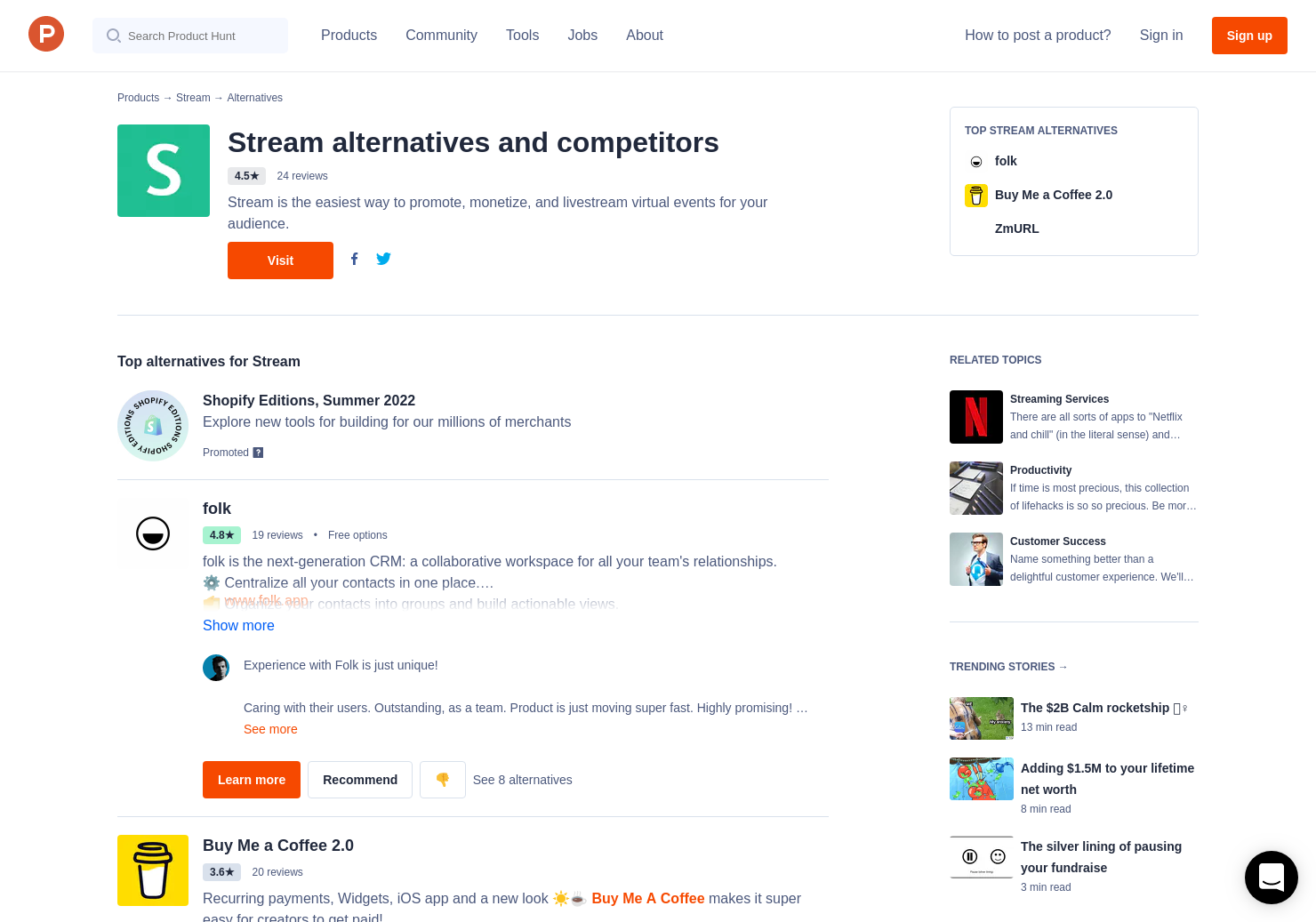 14 alternatives to instream crm product hunt