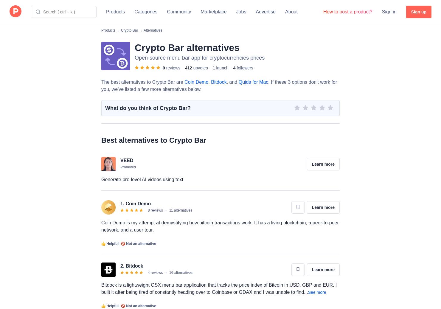 21 Alternatives to Crypto Bar for Mac   Product Hunt