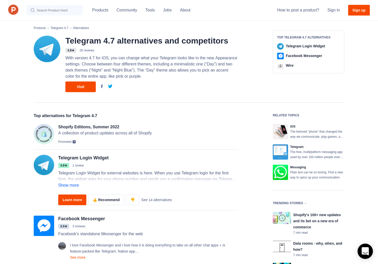 18 Alternatives to Telegram 4 7 for iPhone | Product Hunt