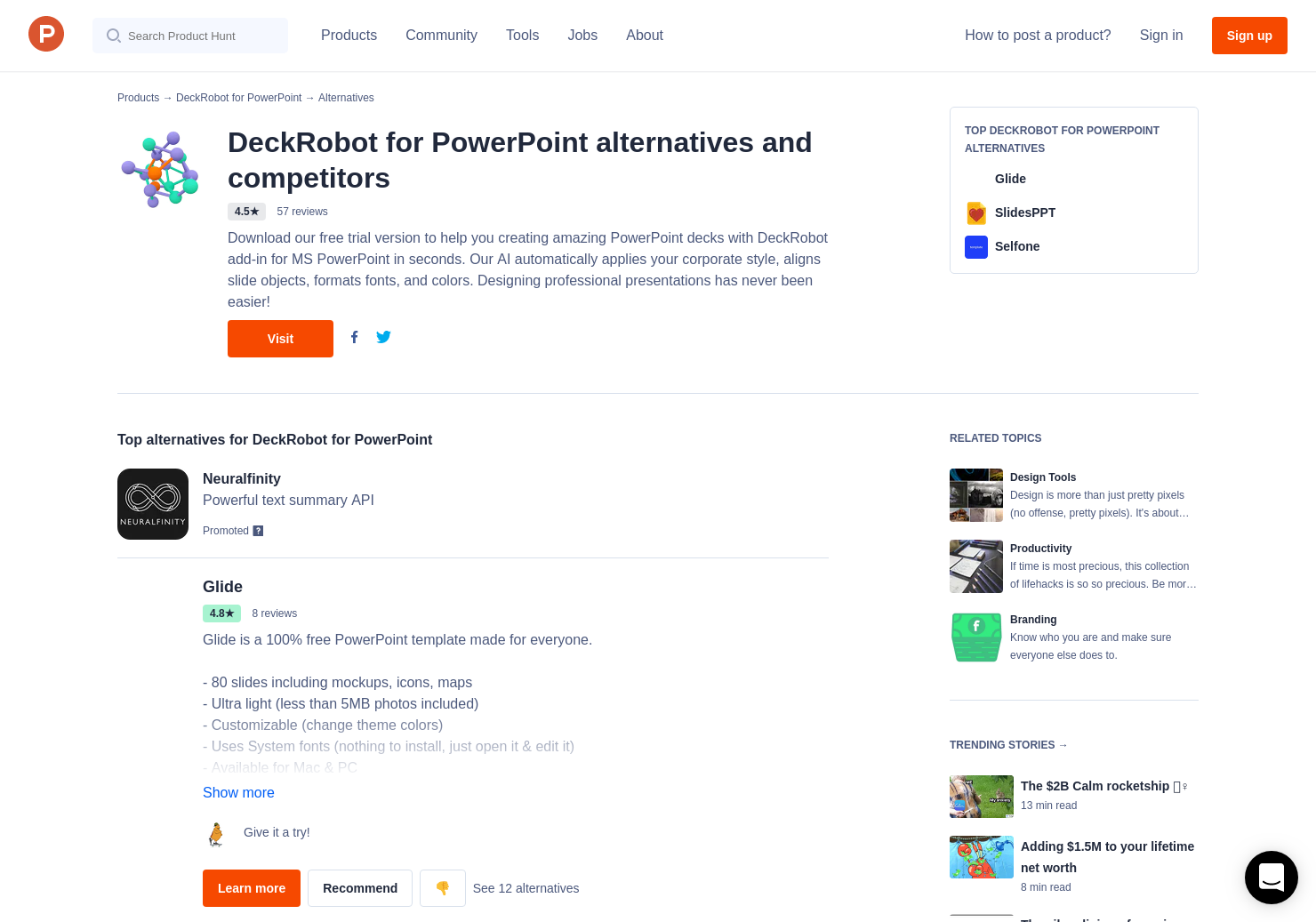 6 Alternatives to DeckRobot for PowerPoint | Product Hunt