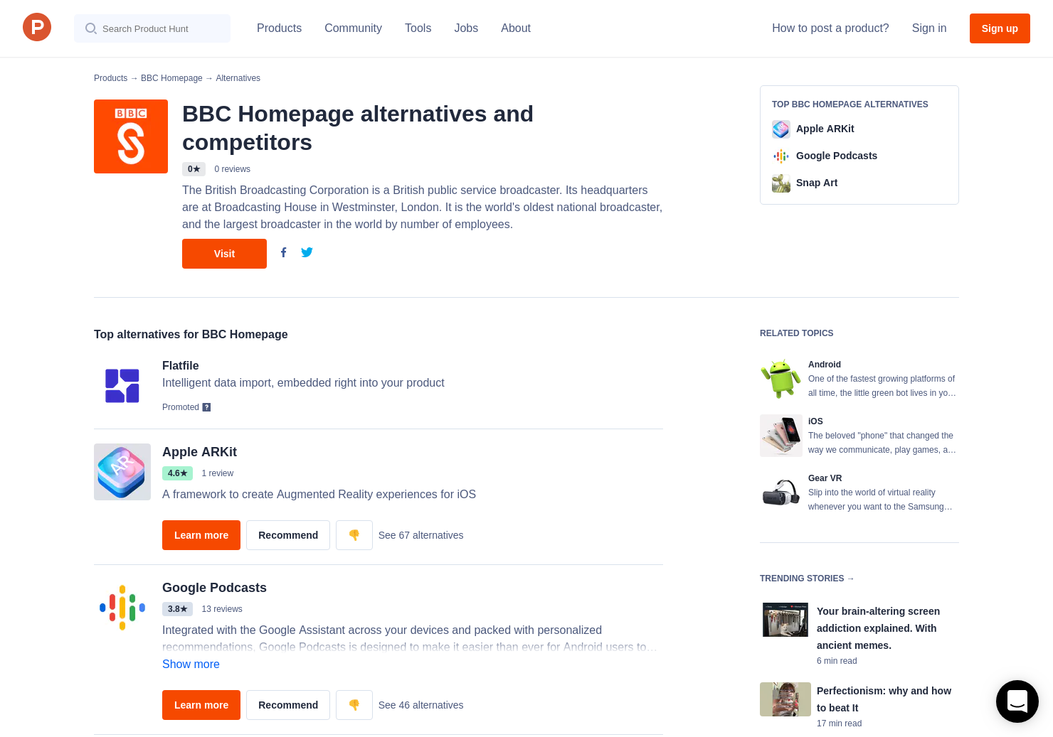 10 Alternatives to BBC Sounds   Product Hunt
