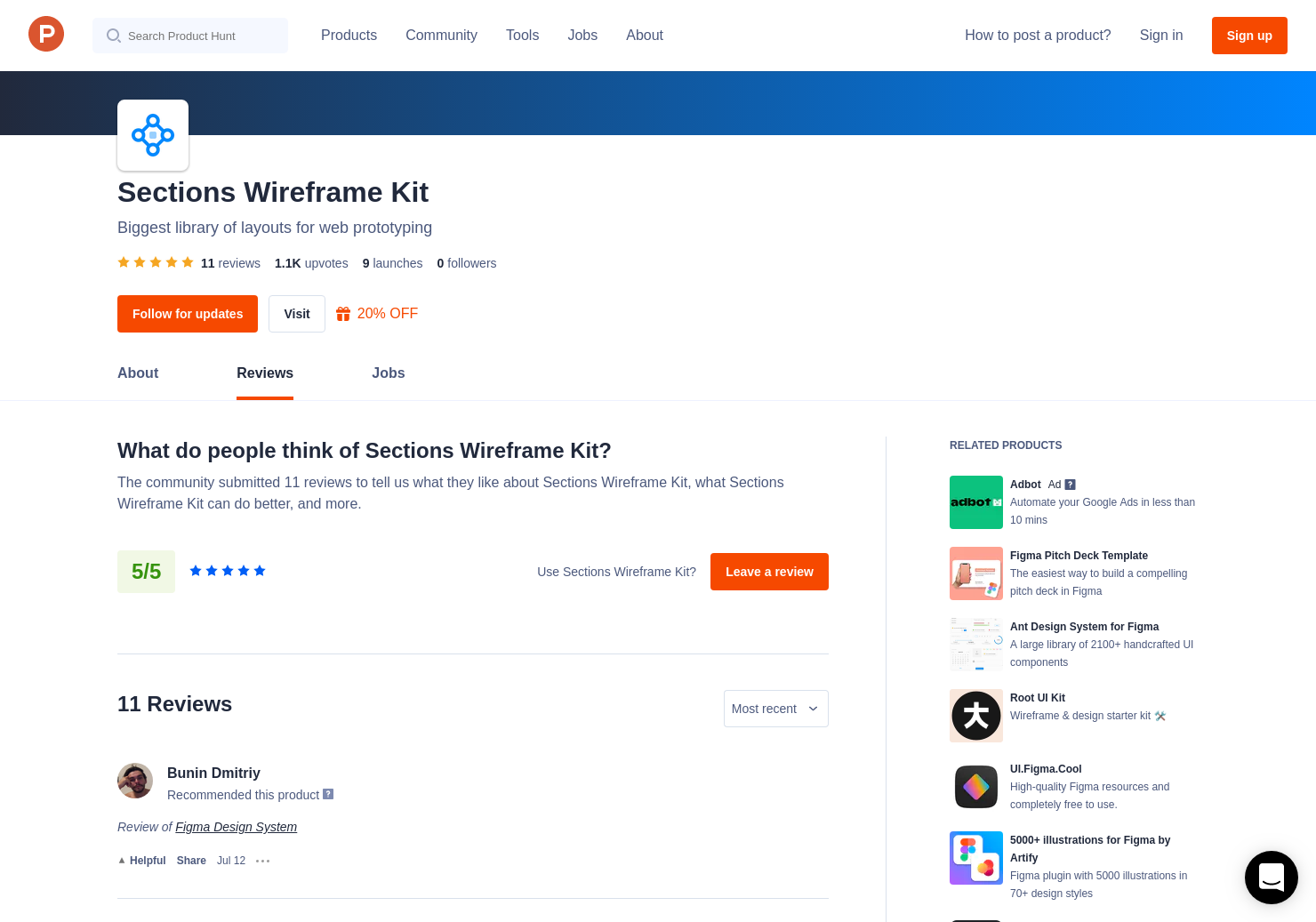 2 Blöcke Web UI Kit Reviews - Pros, Cons and Rating