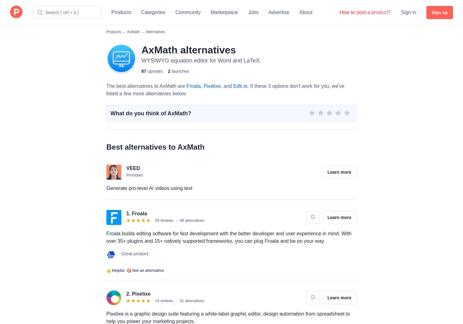 9 Alternatives to AxMath | Product Hunt