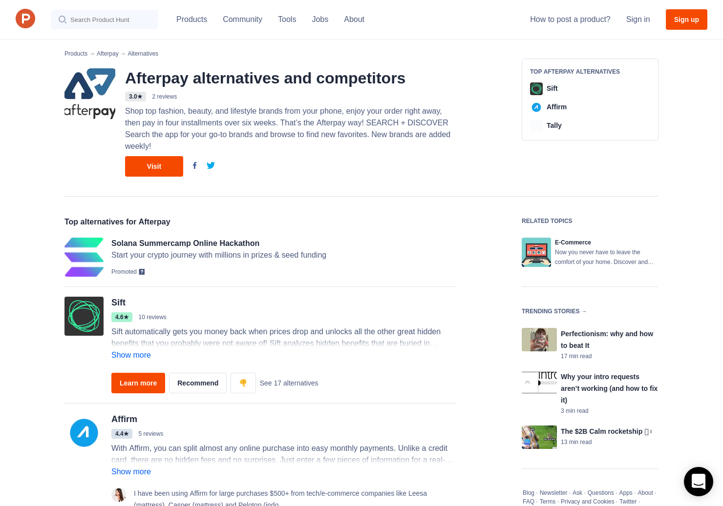 7 Alternatives to After Pay | Product Hunt