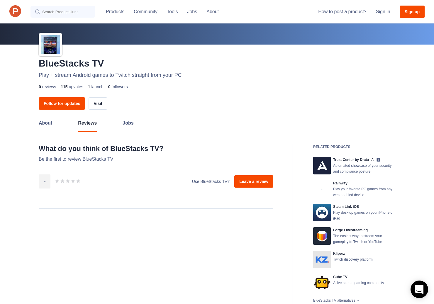 BlueStacks TV Reviews - Pros, Cons and Rating   Product Hunt