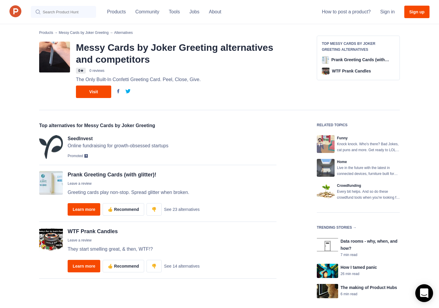 2 Alternatives To Messy Cards By Joker Greeting Product Hunt