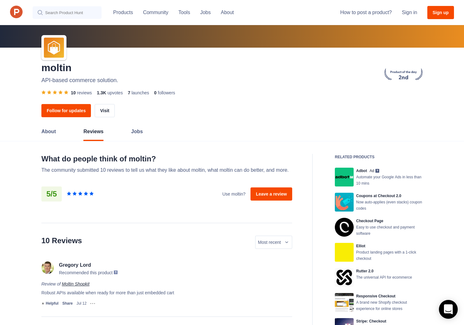 3 Moltin Shopkit Reviews - Pros, Cons and Rating | Product Hunt
