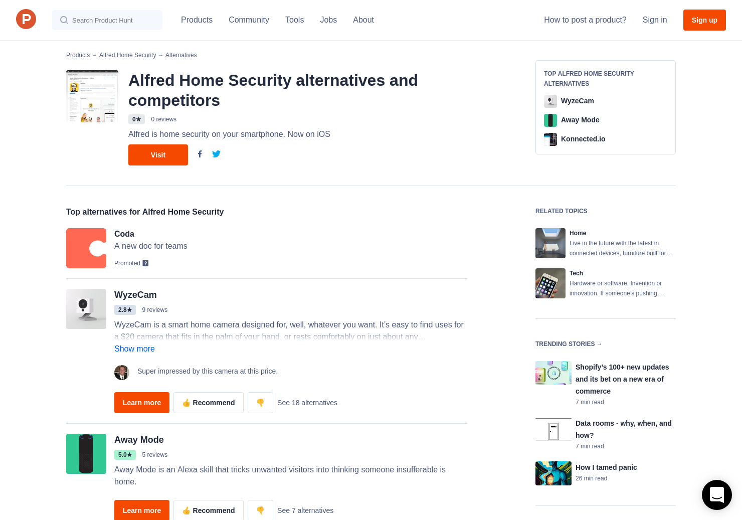 8 Alternatives to Alfred Home Security | Product Hunt