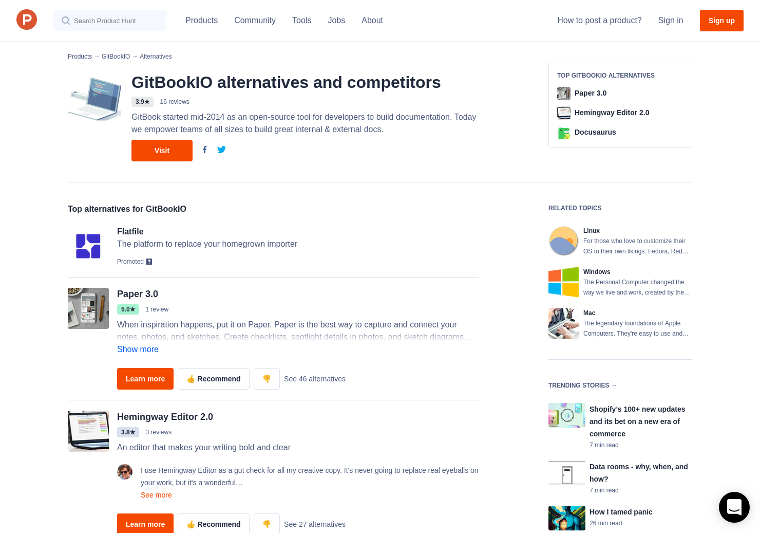 10 Alternatives to GitBook for Linux, Windows, Mac | Product Hunt