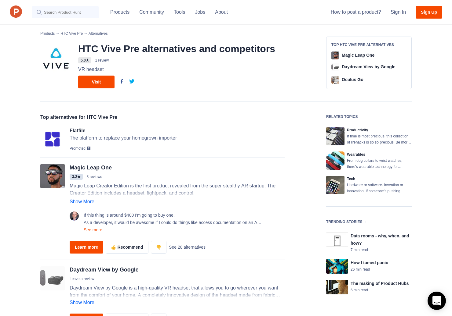 15 Alternatives to HTC Vive for HTC Vive | Product Hunt