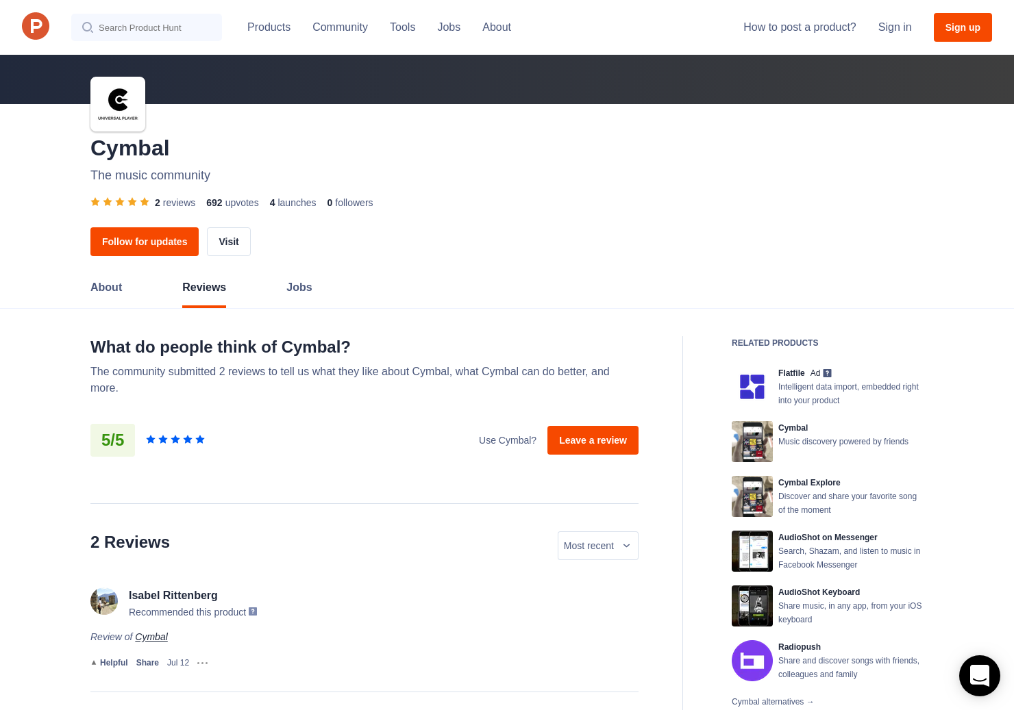 1 Cymbal Reviews Pros Cons And Rating Product Hunt