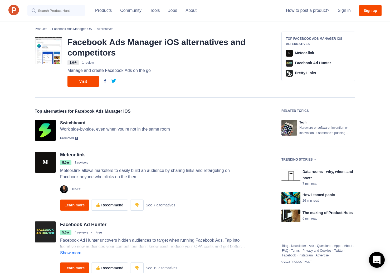11 Alternatives to Facebook Ads Manager iOS   Product Hunt