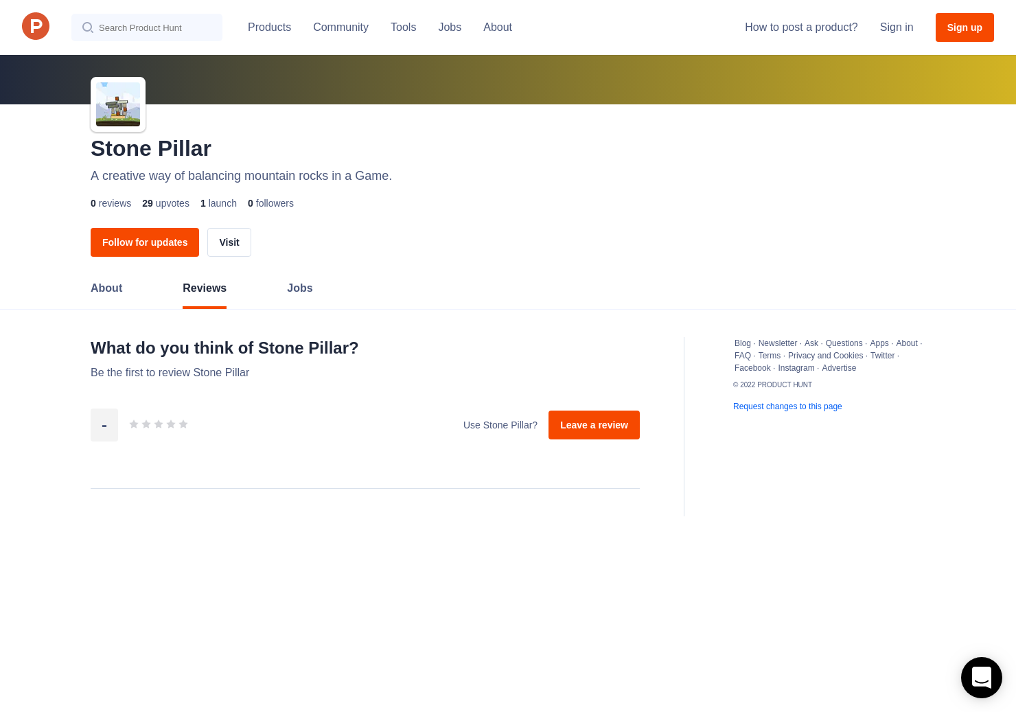 Stone Pillar Reviews - Pros, Cons and Rating   Product Hunt