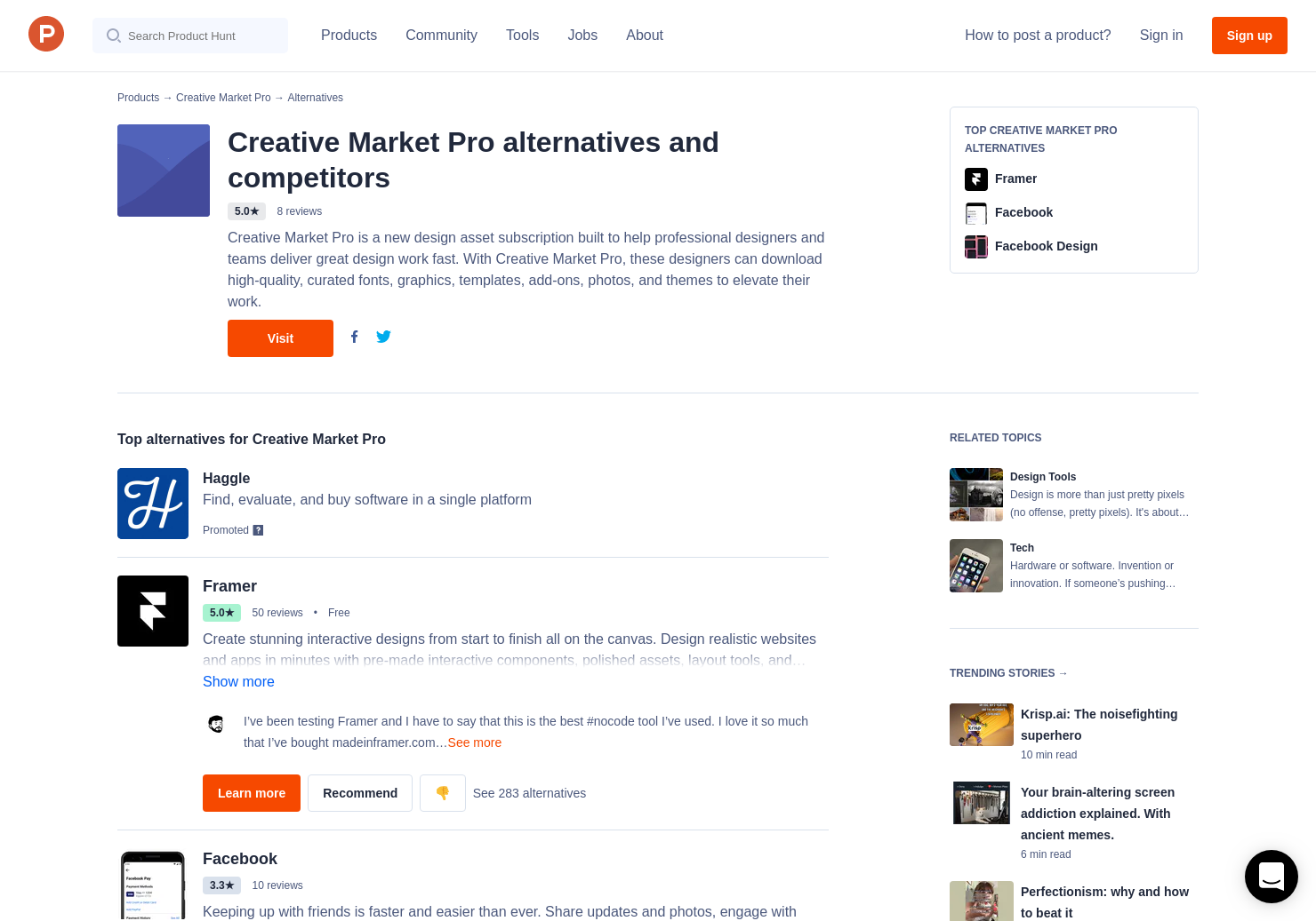 18 Alternatives to Creative Market Pro | Product Hunt