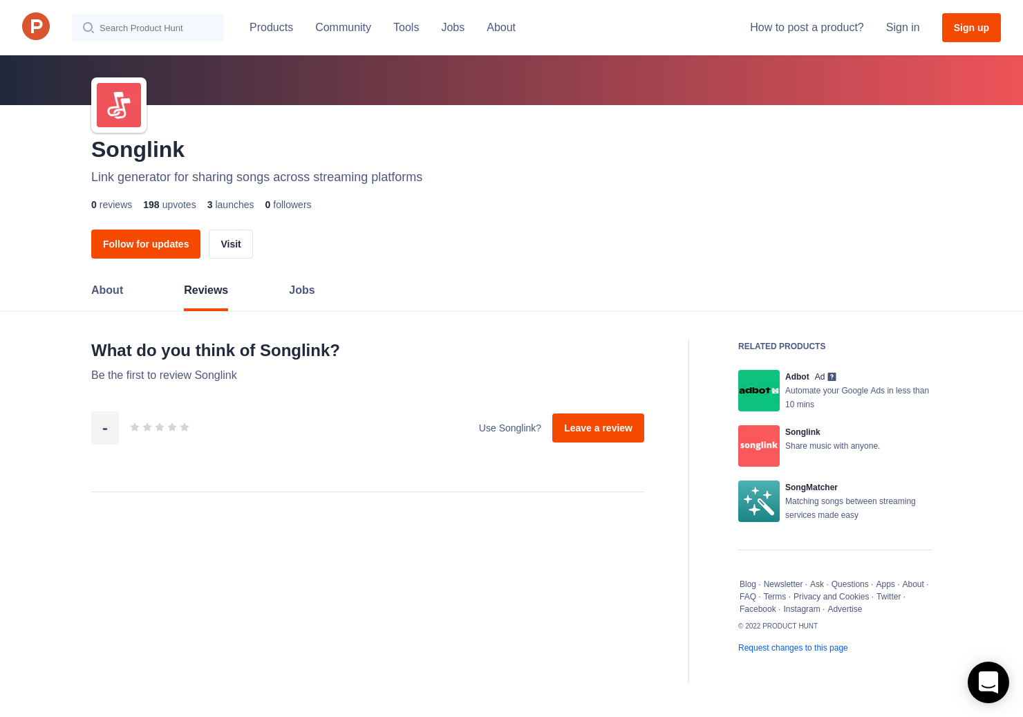 Songlink Reviews - Pros, Cons and Rating   Product Hunt