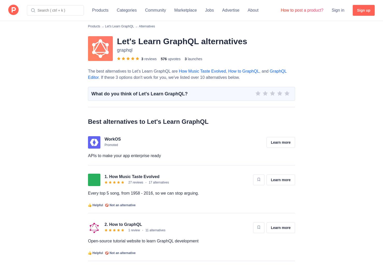 16 Alternatives to Explore GraphQL   Product Hunt
