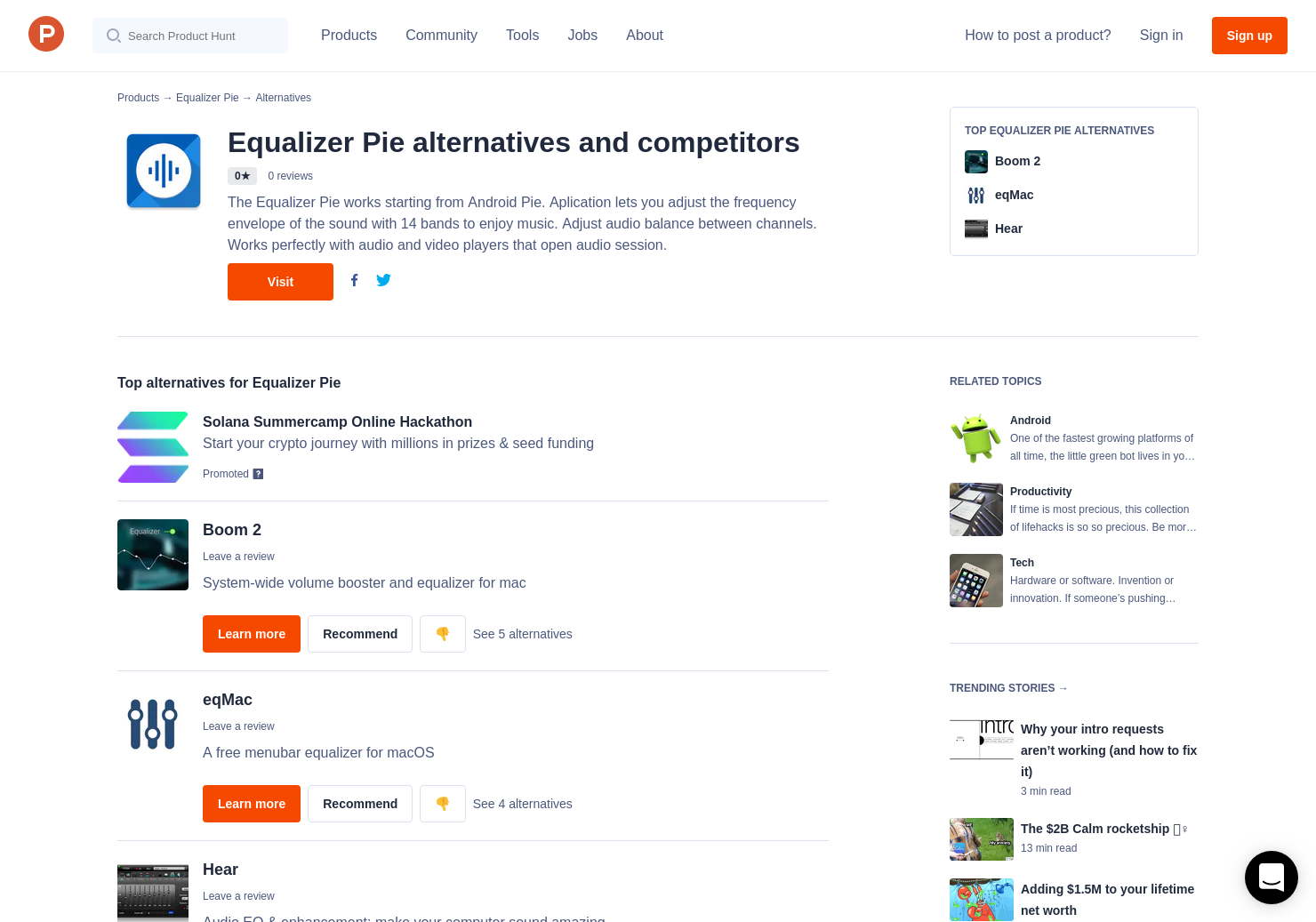 3 Alternatives to Equalizer Pie for Android   Product Hunt