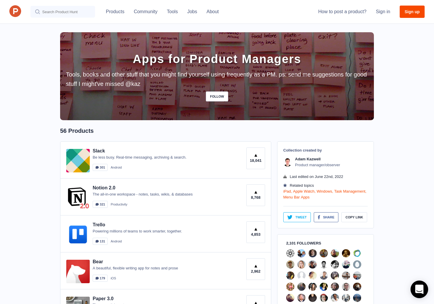 Apps for Product Managers by Adam Kazwell