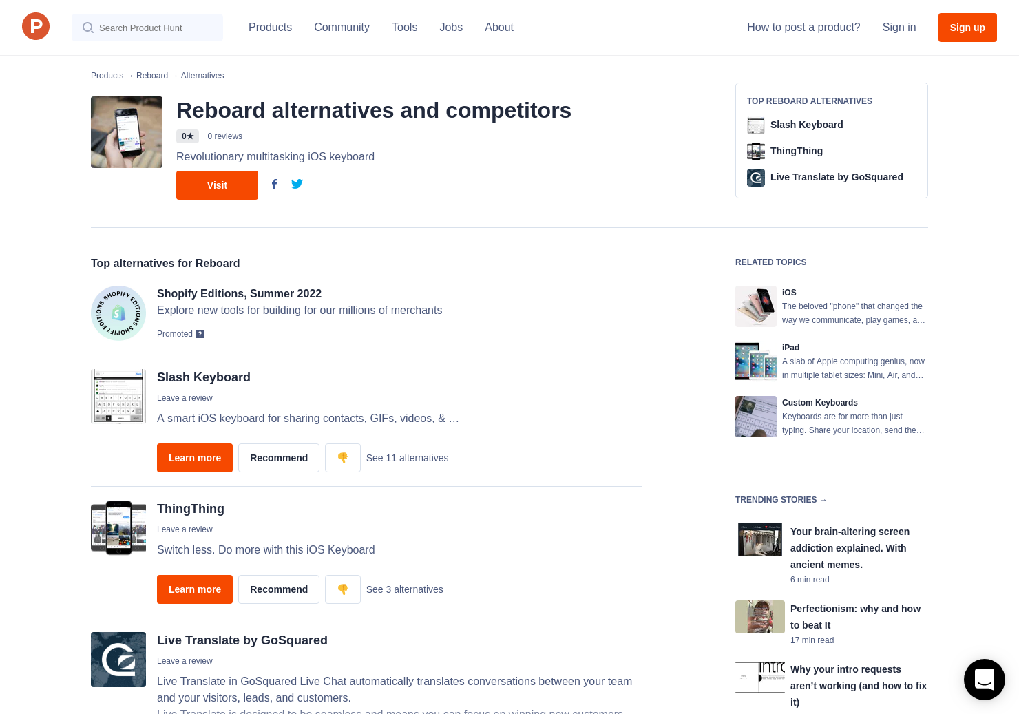 5 Alternatives to Reboard for iPhone, iPad | Product Hunt